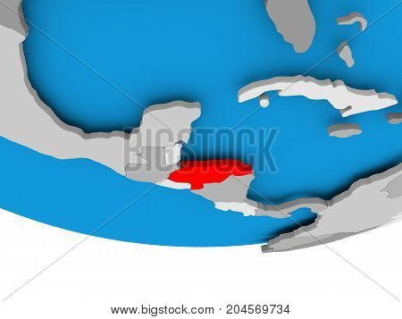 Honduras On Globe