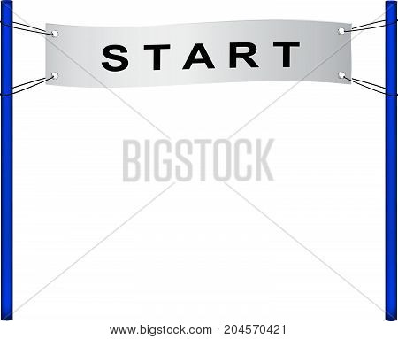 Start flag in retro design on white background