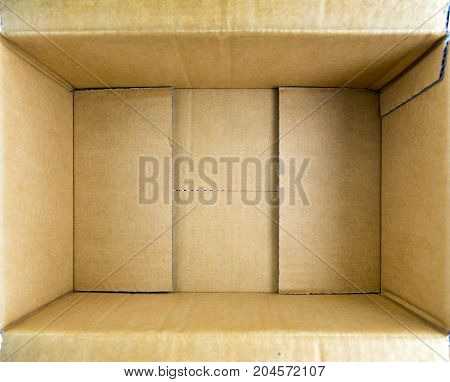 Paper Box For Packaging On White