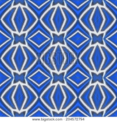 Blue Seamless Pattern Made From Colorful Butterfly Wing For Background Texture