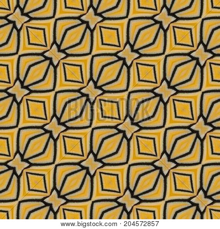 Yellow Seamless Pattern Made From Colorful Butterfly Wing For Background Texture