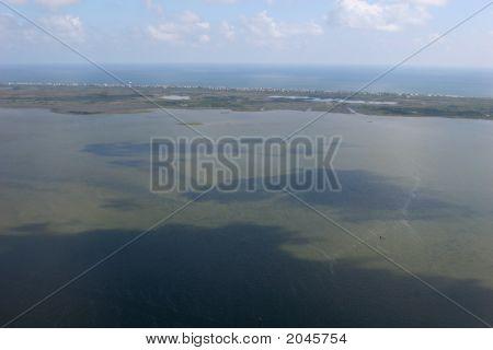 Aerial View Of Ocean Outerbanks North Carolina