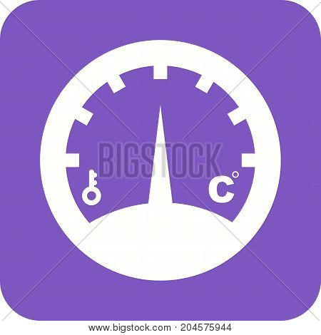 Temperature, gauge, indicator icon vector image. Can also be used for Climatic Equipment. Suitable for use on web apps, mobile apps and print media.