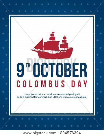 Happy Columbus Day background design vector illustration