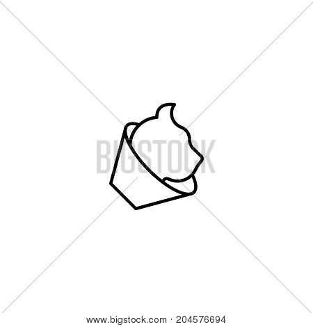 Cat flat icon. Single high quality symbol of line animal vector for web design or mobile app. Color sign of vet for design logo. Single pictogram on white background