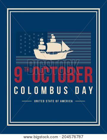Columbus day celebration background design vector illustration