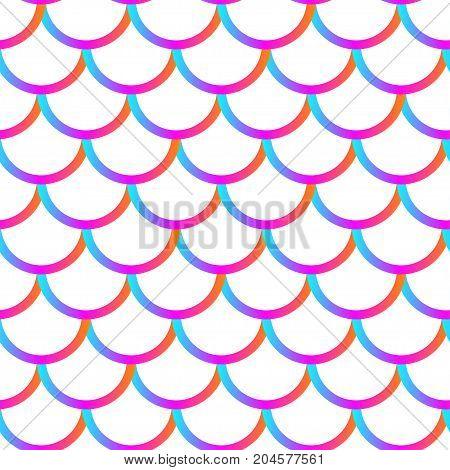 Mermaid girly scales. Gradient vector seamless pattern.
