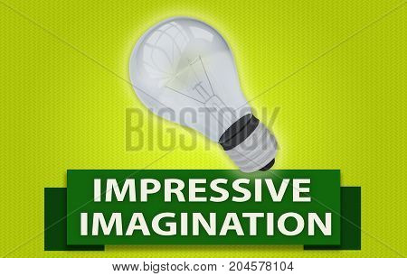 Impressive Imagination Concept With Banner And Light Bulb