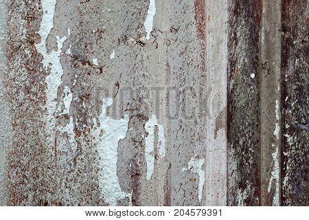 Aged metal sheet textured background, detail close up