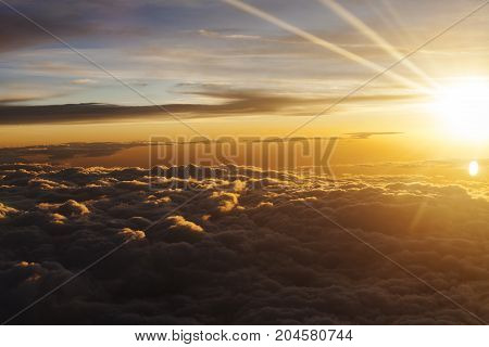 Sunrise Over Couds