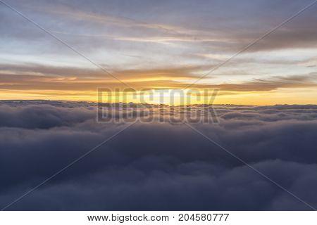 Orange Sunrise In Flight