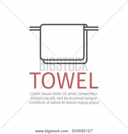 Towel sign. Vector icon for web graphic.