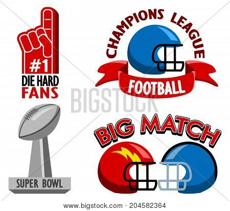 Vector fancy badge collection of Football championship