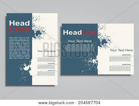Book album brochure flyer cover design template. Vector illustration.