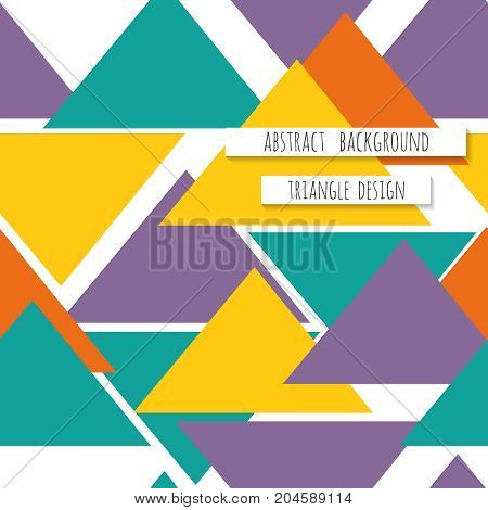 Triangle seamless pattern background. Can be used for business brochure cover design. Vector