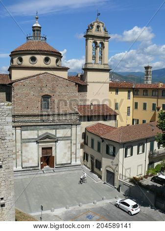 Prato Italy august 2 2015: Santa Maria delle Carceri church