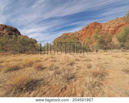 Jessie Gap form the north MacDonnell ranges outback Alice Springs Australia 2017