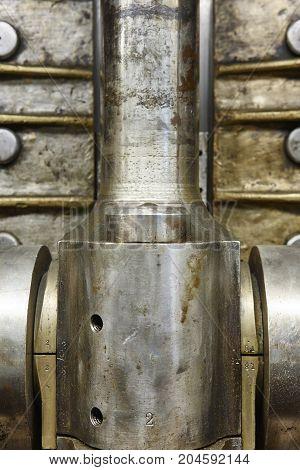 Engine valve detail of and second war world submarine. Power