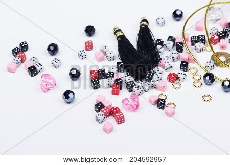 Domino Beads And Tassels