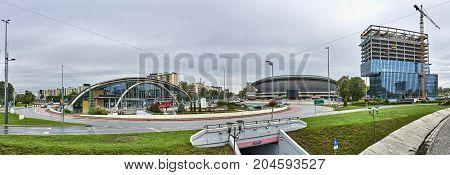 Katowice, Poland - September 16, 2017: Sports Hall Spodek On 16