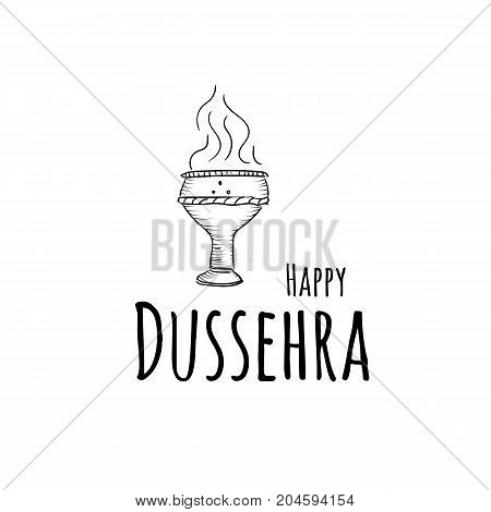Illustration vector set with attributes for Happy Dussehra festival of India background