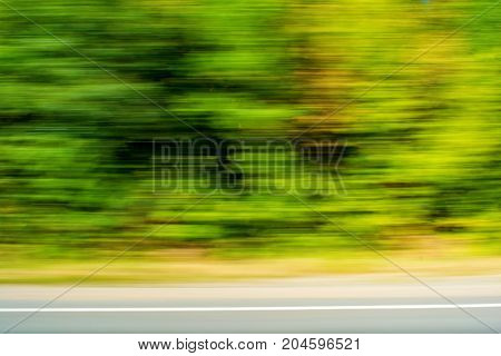 Photo of blurred green plants beautiful motion background