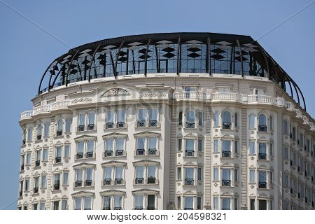 Detail of a new building in Skopje - The capital city of Macedonia