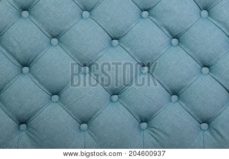 Blue Capitone Tufted Fabric Upholstery Texture