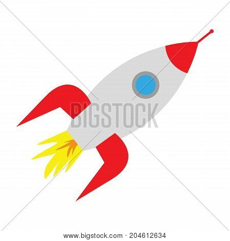 space rocket on white background vector illustration