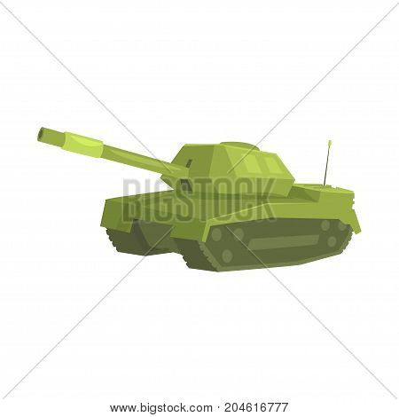 Military tank cartoon vector Illustration on a white background