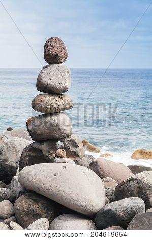 Rock Stacking. Ribeira Da Janela, Madeira