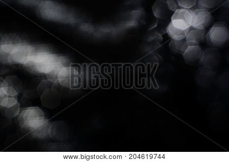 The Hard Black And White Blurred  Hexagon Style