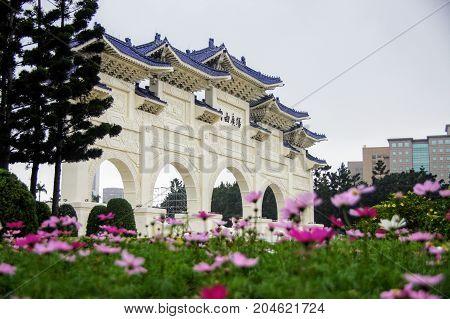A landmark in Taipei city, the Chiang Kai-Shek Memorial Hall