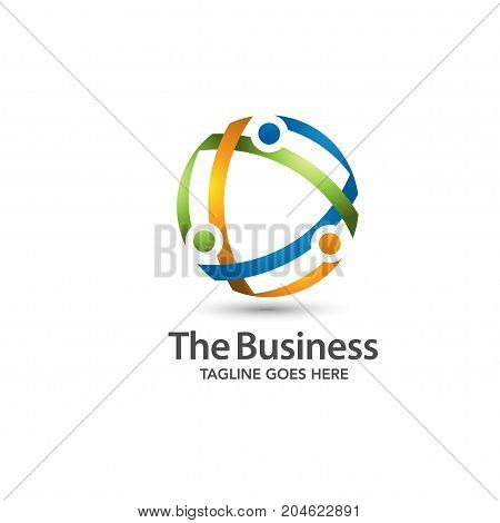 modern and elegance circle technology logo vector