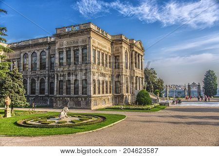 ISTANBUL, TURKEY: Dolmabahce Palace in Istanbul. It is the largest palace in Turkey and one of the most glamorous palaces in the world, on October 7, 2014