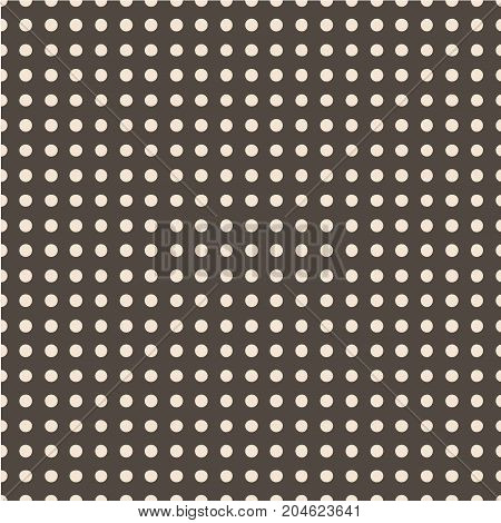 Seamless vector pattern. Polka dot . Dotted background with circles, dots, rounds Vector illustration Flat Scandinavian style for print on fabric, gift wrap, web backgrounds, scrap booking, patchwork