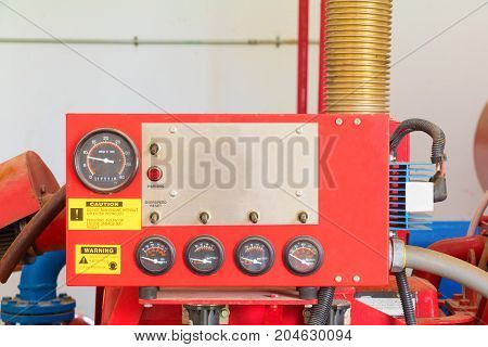 gauge scale box on control system in the plumbing inside of building industrial
