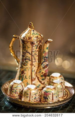 chinese teapot and teacup - Stock Image