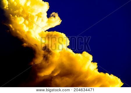 blue sky dark with cloud in summer Before sunset art of nature beautiful and copy space for add text
