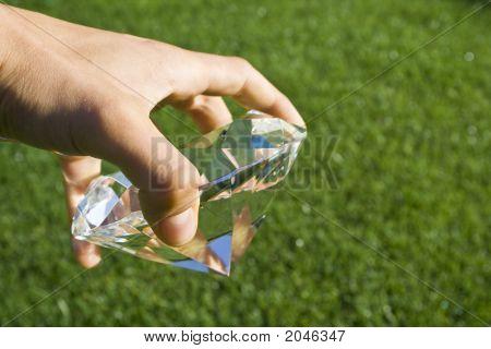 Holding A Diamond