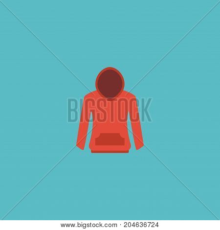 Flat Icon Hoodie Element. Vector Illustration Of Flat Icon Sweatshirt Isolated On Clean Background