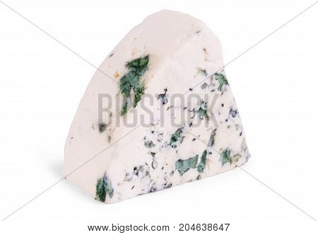 Gorgonzola cheese isolated on a white background