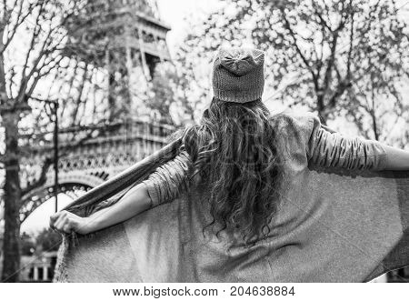 Young Tourist Woman In Paris, France Having Fun Time
