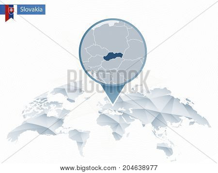 Abstract Rounded World Map With Pinned Detailed Turkey Map.