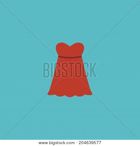 Flat Icon Sundress Element. Vector Illustration Of Flat Icon Evening Dress Isolated On Clean Background
