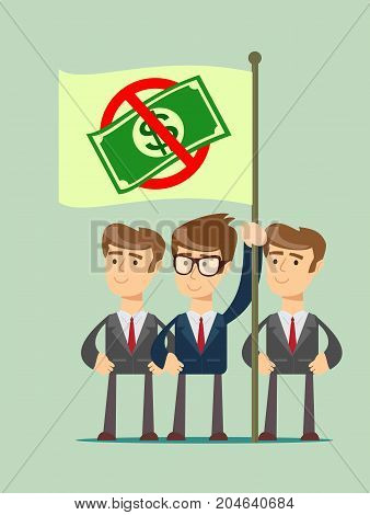 Ban of money. Stock flat vector illustration