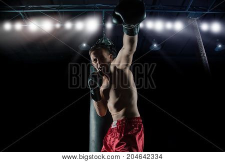 The Boxer Stands In The Ring And Beats On The Opponent Being Represented.