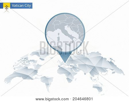 Vatican City On World Map.Abstract Rounded Vector Photo Free Trial Bigstock