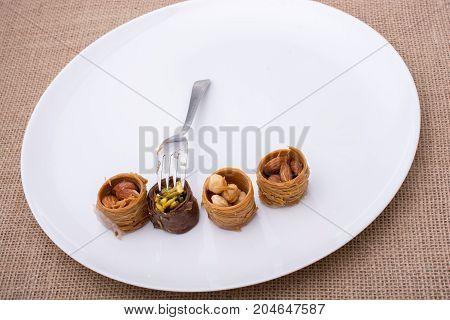 Nut Stuffed Dessert Of Mini Size Cuisine