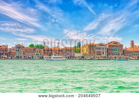 A View Of The Island Of Giudecca, Located Opposite Main Island Venice. Italy.